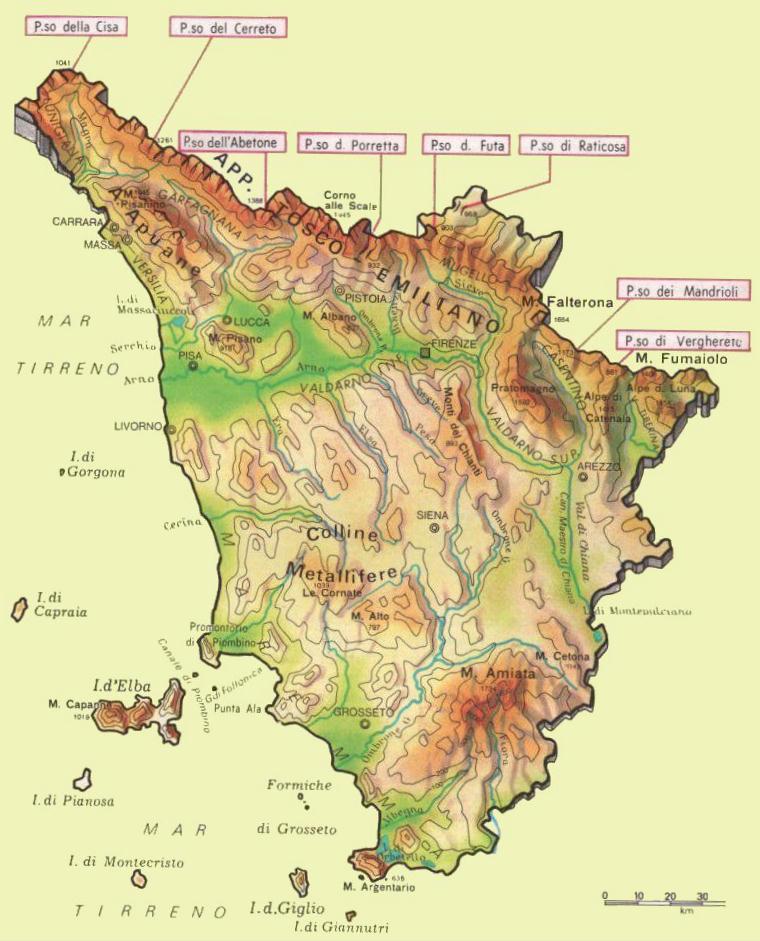 Toskana Karte Deutsch.Wandern Und Trekking In Der Toskana Erleben Tritt Toskana De